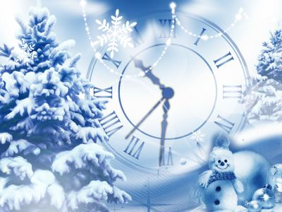 Snowfall Clock Screensaver