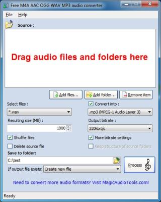 Free M4A WAV to MP3 Converter