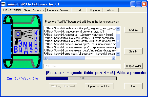 EminSoft MP3 To EXE converter